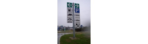 Vertical and horizontal road signs